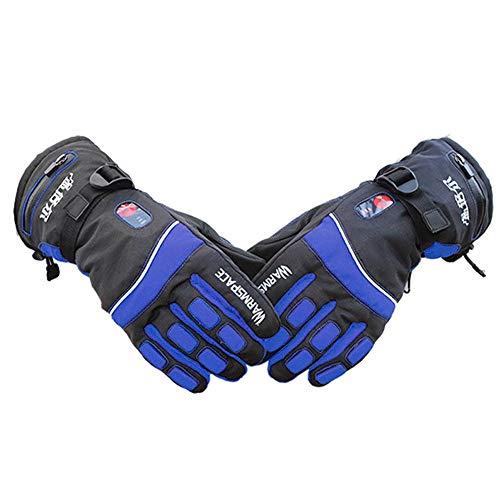 thorityau Skihandschuhe Elektro-Skihandschuhe Für Herren Outdoor-Skihandschuhe Wasserdicht Winter Mit Temperaturregelung Auf Zwei Seiten Beheizt