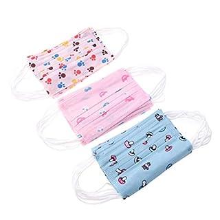 SUPVOX Mundschutz Einweg Aktivkohle Blumen Muster Staubdicht Gesichtsmasken Mund Maske mit Elastikband 30 Stück