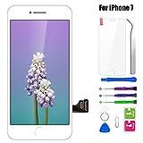 "BuTure Pantalla Táctil LCD para iPhone 7 4.7 ""Blanco, Pantalla para iPhone 7 con herramientas de reparación y protector de pantalla"