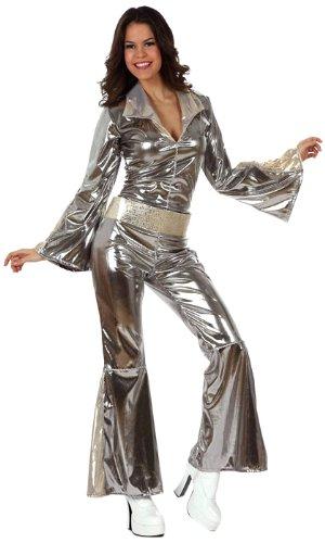 Imagen principal de Atosa - 10442 - Disfraz Disco Plateado- talla M-L - Color Plateado para Mujer Adulto