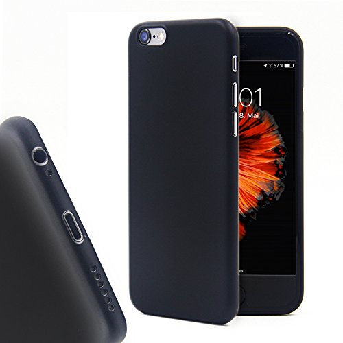 CELLBEE Kompatibel mit iPhone 6 6s Plus Hülle, Extrem Dünn Handyhülle Slim Case Anti-Fingerabdruck Feder-Leicht Bumper Cover Schutz Tasche Schale Hardcase - Schwarz