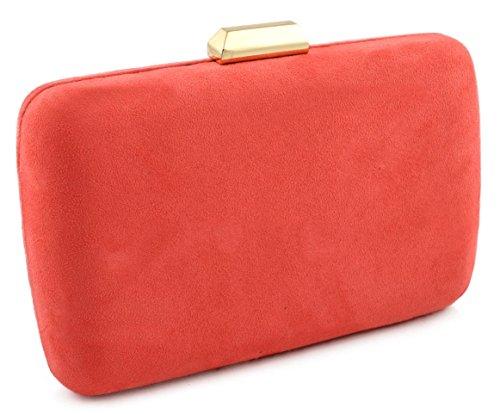 bolso de fiesta Antelina coral