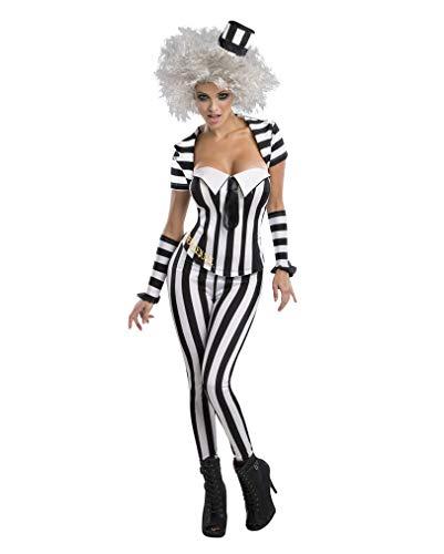 Horror-Shop Beetlejuice Corsagen-Kostüm M (Für Beetlejuice Kostüm Frauen)