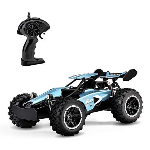 Rabing RC Voiture, Camion de Chenille de véhicule de Roche de Route 2.4Ghz 2WD Radio Haute Vitesse télécommande électrique Rapide Voiture Buggy Hobby Car (Bleu)