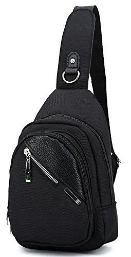 Keshi Leinwand neuer Stil Damen accessories hohe Qualit?t Einfache Tasche Schultertasche Freizeitrucksack Tasche Rucks?cke Schwarz 2