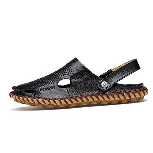 Man's Fashion Sommer Bequeme Belüftung Sandalen Hausschuhe (Multi Style Auswahl) 882 black