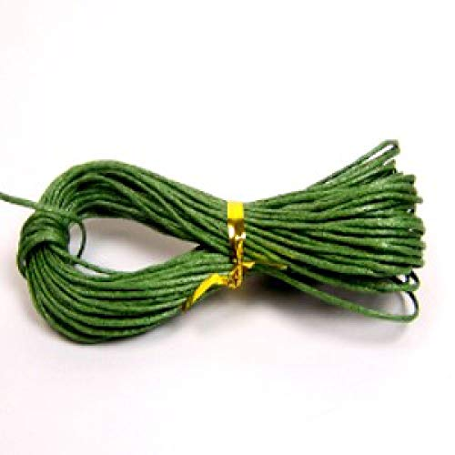 k2-accessories 1mm Waxed Cotton Thong Cord - Dark Green - C0607 / 10 Mtrs -