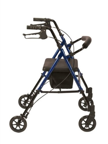 Drive Medical R8BLHA Rollator aus Aluminium, leicht, höhenverstellbar, Blau