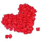 TankerStreet 2000 Stück Rosenblätter Rosenblüten Getrocknet Hochzeit Rosenblätter Konfetti Künstliche Simulation Gefälschte Blumen Rosenblütenblätter Dekor für Valentinstag Romantische Party Bett Rot