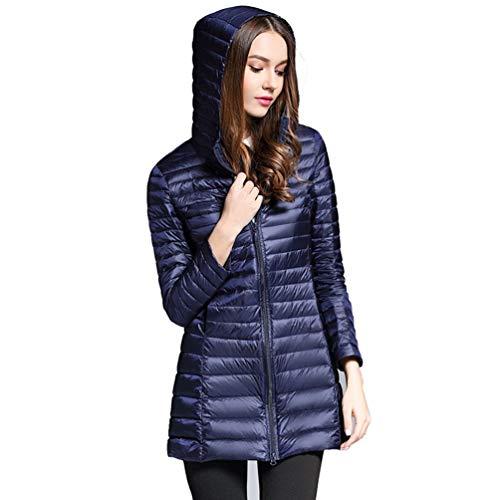 Tookang solido giacche piumino donna ripiegabile caldo ultraleggeri cappotto imbottito trapuntato packable giacca