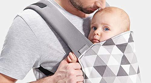 kk Kinderkraft Nino Ergonomic Baby Carrier Front Gray kk KinderKraft Thanks to a special, well-profiled layer, the baby's head does not tilt Ergonomic baby carrier for children aged from 3 months up to 20 kg The compact baby carrier can be folded to a small size and weighs only 0.39 kg 9