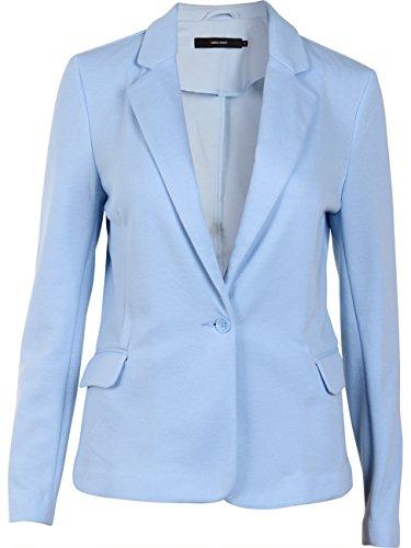 Vero Moda Damen Jersey-Blazer Business-Look Übergangsjacke (38, Cashmere Blue) (Cashmere Knopf-blazer)