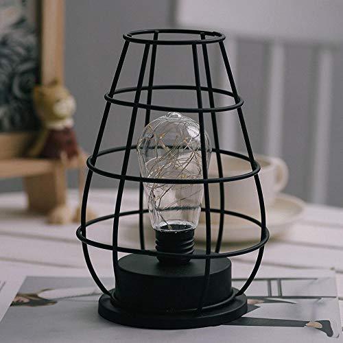 Massivholz Theke Höhe Tisch (Tischleuchte,Nachttischlampe,Bügeln Sie das Nachtlicht für das Schlafzimmerbüro an der Theke@Abschnitt A)