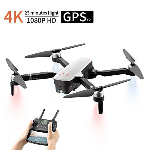 Drohne Mit Kamera HD, Dual GPS Drohne, 4K Kamera 120°Weitwinkel 1080P HD WiFi FPV Live Übertragung, 23 Minuten lange Flugzeit/Automatische Rückgabe/Follow Me Funktion/Flugbahn Flug/Gestensteuerung