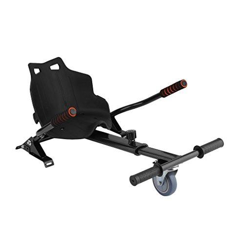 Homgrace Hoverkart Sitzscooter Längenverstellbar Kart Sitz für alle Hoverboards Self Balancing Scooter Elektro Go-Kart Balance Scooter (6,5, 8 und 10 Zoll), passt für Kinder oder Erwachsene Schwarz 1