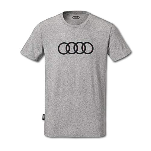 Audi Herren T-Shirt Ringe grau (XXL)