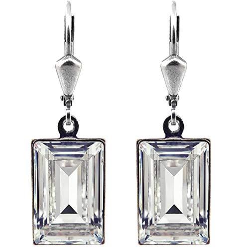 Ohrringe mit Kristalle von Swarovski® Silber Crystal NOBEL SCHMUCK