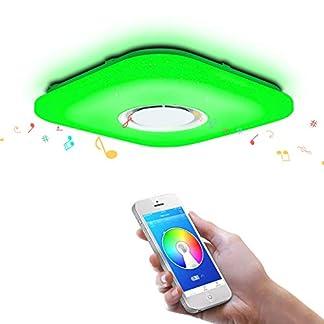 OFFDARKS – Plafoniera LED, lampada da soffitto con altoparlante Bluetooth, app telecomando a distanza + luminosità regolabile + cambio di colore