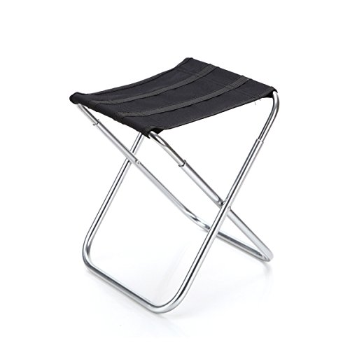 Ultraligero Plegable Silla, Portátil al Aire Libre Taburete Asiento para Pesca Camping Caza Viajes Picnic 24 × 22 × 28cm / 9.5 × 8.7 × 11in