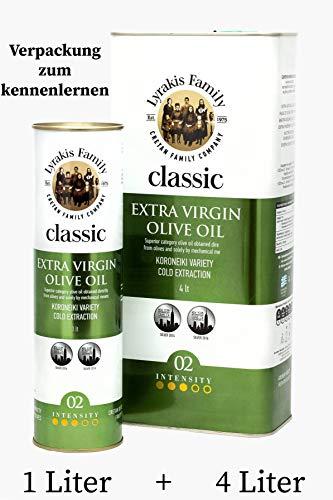 \'Lyrakis Family seit 1975\' Olivenöl 5 Liter Extra Vergine-Kaltgepresst aus Kreta-Griechenland |Extra Nativ 0,2{dd385062d6c3025cbf0c43ca9b38e24353fc30dbbfdd9d5911f6d6c55b222d9a} |PREMIUM| MediterranMarkt.de ✔Einführungspreise zum kennenlernen