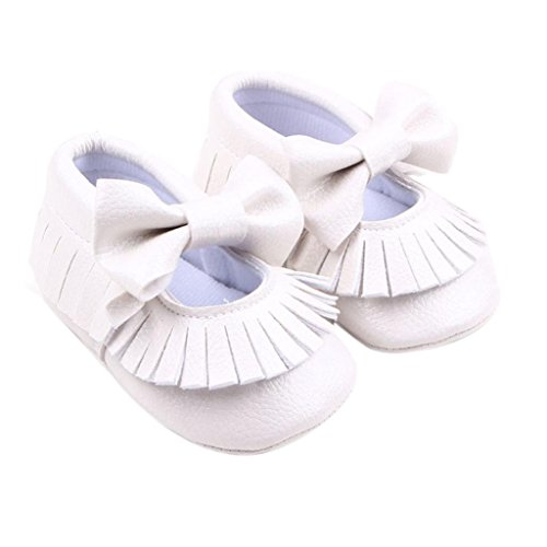 Pu Longra Krippe Leder Beiläufige Baby Schuh Bowknotschuhe Weiß Kleinkind Mädchen w0Bqf