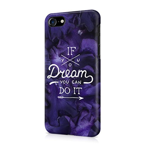 Lily Handy Snap (If You Dream You Can Do It Purple Flower Blossom Pattern Apple iPhone 7 / iPhone 8 SnapOn Hard Plastic Phone Protective Fall Handyhülle Case Cover)
