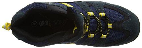 Groundwork GW400 N, Scarpe di Sicurezza Uomo Blu (Navy/Giallo)