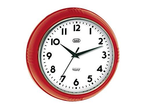 Trevi 3314 Orologio da Parete - Original Sixty classico retrò - 24,5cm Rosso