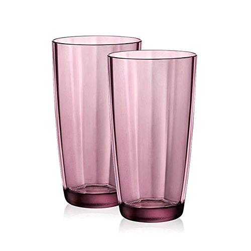AMCER Copas Resistentes a Las roturas coloreadas Vasos para Beber Vasos irrompibles Vasos de Vino reciclados Vasos de plástico a Prueba Rotura Vasos Resistentes a roturas Juego 6,Purple 470ml