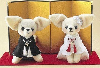 Human Produce Chihuahua Willkommen Puppe (Japanisch) handgefertigte Kit Set Baumwolle/Nadel/Faden/Gold Faltdisplay/mit roten Haaren Stich/Bohrung Stoff geschnitten -