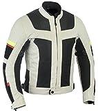 Lovo, giacca da moto a triplo strato, tessuto traforato, estiva, da uomo 2XL grigio