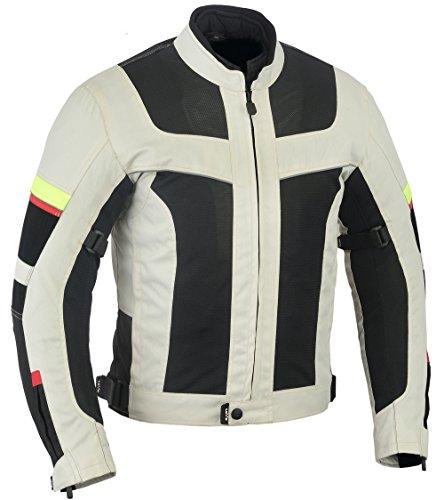 Lovo, giacca da moto a triplo strato, tessuto traforato, estiva, da uomo 5XL grigio