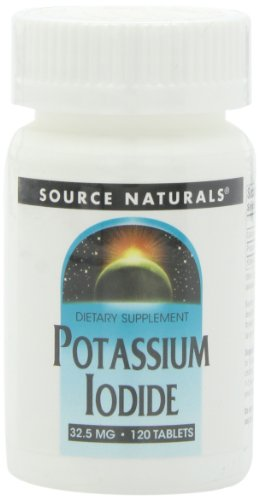 Source Naturals, (Potassium Iodine) Kalium Iodide, 32,5mg, 120 Vegetarische Tabletten