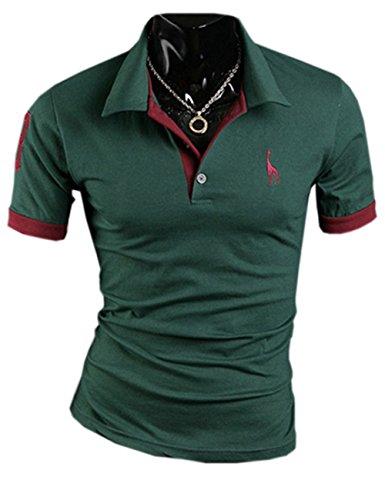 SOMTHRON Herren t Shirt Mode Baumwolle Kurzarm Fit Polo T-Shirts Stilvolle Plus Size Schlanker Ärmel Golf Shirts Lässige Tennis Shirts Sommer Rugby Shirt Sportbekleidung 5XXXXXL(BG,5XL)