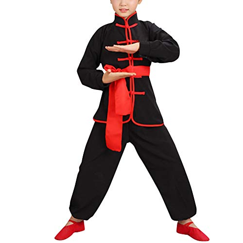 Huatime Kampfsport Bekleidung Kind Trainingsbekleidung Sets - Schüler Jungen Chinesisch Traditionell Tai Chi Wushu Leistungskostüme Uniformen Kung Fu Mädchen Sport Kleidung Trainingsanzüge