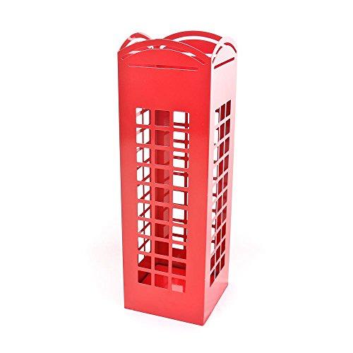 CKB Ltd® Roja de Londres Cabina de Teléfono Soporte para paraguas traditonal Inglés Phonebox–Suelo de metal rack de pie también para cañas/bastón