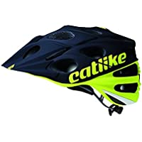Catlike Leaf 2C Casco de Ciclismo, Unisex Adulto, Amarillo (flúor) / Negro, M/54-57