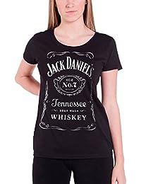dfda0a9f859 Jack Daniel T Shirt Classic Logo Official Womens Black Skinny Fit