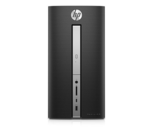 HP Pavilion 570-p596ng Desktop PC (Intel i7, 16GB RAM, 128GB SSD, 1TB HDD, GeForce GT 1030, Windows 10) Schwarz