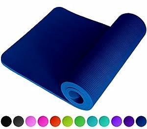 Fitnessmatte Blau Blue Fitness, Gymnastik, Sport, Turnen, Pilates / 1,5 cm / dick sehr weich / Maße 183 x 61 cm / mit Trageband / rutschfest / perfekte Fitnessmatte / Sportmatte / Yogamatte / Gymnastikmatte / Trainingsmatte / Sportunterlage / Pilatesmatte / Turnmatte von ReFit