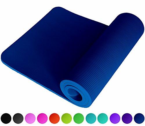 Fitnessmatte Blau Blue Fitness Gymnastik Sport Turnen Pilates 1,5 cm dick sehr weich 183 x 61 cm Trageband rutschfest Sportmatte Yogamatte Gymnastikmatte Trainingsmatte Unterlage Turnmatte ReFit