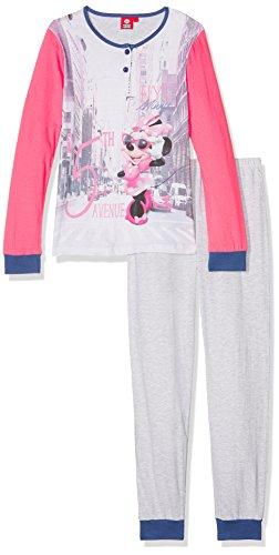 Disney ml pl minnie, pigiama bambino, rosa (fragola), 140 (taglia produttore:10 anni)