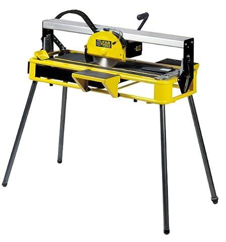 Fartools 113513 Coupe carrelage électrique radial Coupe 36 mm Lame 200 x 22,2 x 2 mm Table inclinable visée laser 800