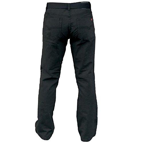 Herren Bedford Cord Gerades Bein Jeans By D555 Duke GRATIS GÜRTEL King übergröße Schwarz - MARIO