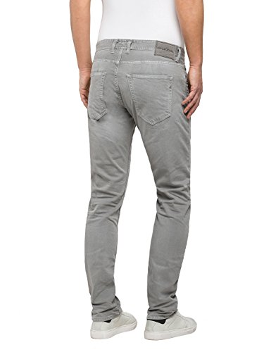 Replay Herren Straight Jeans Grover Grau (Light Grey 30)