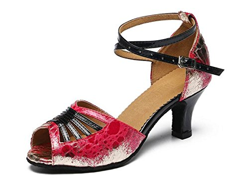 JSHOE Les Chaussures Latines Des Femmes Brillent Salsa / Tango / Chacha / Samba / Moderne / Jazz Dance Sandals Talons Hauts