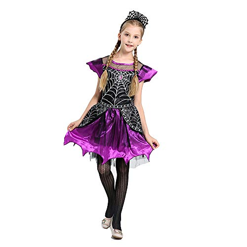 artoon Dance Kleid Kostüm Cosplay Spider Queen Tutu Dress Up (lila, 120cm) ()