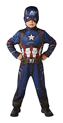 Rubie's Official Marvel Civil War Classic Captain America, Child Costume - Large Ages 7 -8