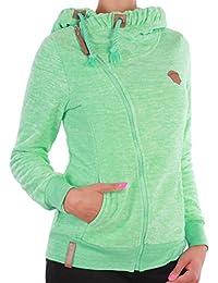 Fleecejacke Sweatjacke Damen Jacke Übergangsjacke Kapuzenpullover Hoodie 5 Farben ☆F24