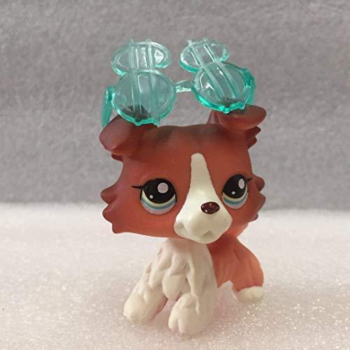 Große Geschenke Store Littlest Pet Shop LPS Collie Pet Dane Hunde und Katzen Collection Kind Mädchen Boy Figur Toy Loose Cute 08